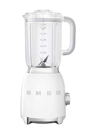 Smeg licuadora años 50 - 1.5 litro 800 W color blanco blf01wheu: Amazon.es: Hogar