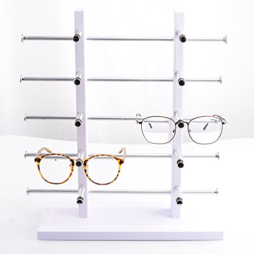 Katoot@ Two Row Five Layers Sunglasses Rack Holder Frame Glasses Sale Show Display Stand Organizer For 10 Pair - Sunglasses Fives