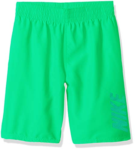- Nike Swim Big Boys' Logo Solid Lap Volley Short Swim Trunk, Electro Green, Small