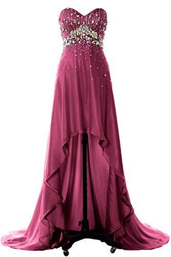 Party Gown Formal Macloth Homecoming Red Prom Wine Crystal Evening Women Long Dress Hi Lo qwvFqP4