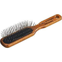 No. 1 All Systems Pet Oblong Pin Brush with Wooden Handle