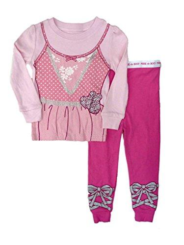 Infant Toddler Girl Pink Ballerina Halloween Sleep Set Sleepwear Pajamas PJs 24m ()