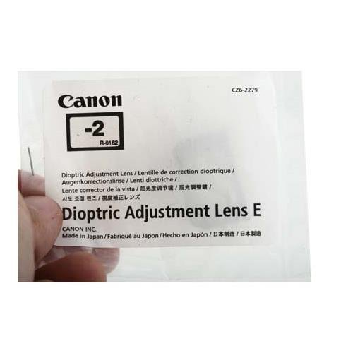 Canon Dioptric Adjustment Lens E (-2) for EOS 1D, 10D, 20D, D30, D60, Digital Rebel & 1v SLR Cameras