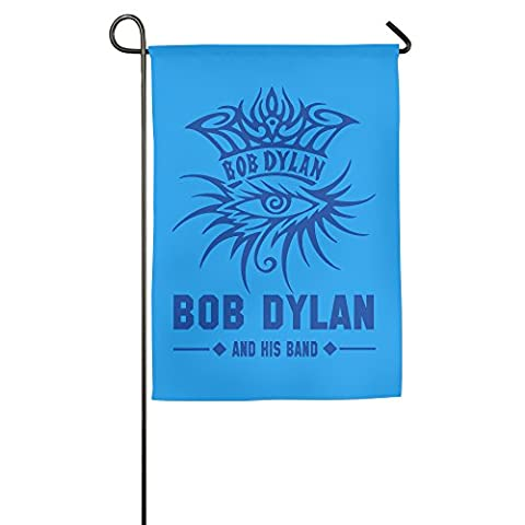 Blue Bob Dylan And His Band Polyester Home Garden Flag 1827inch (Citizen Flag Band)