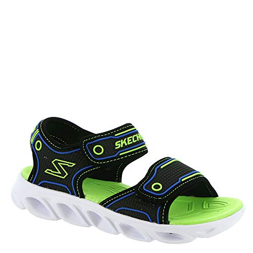 Skechers Boy's, Hypno-Flash 3.0 Sandal Black Lime 12 M
