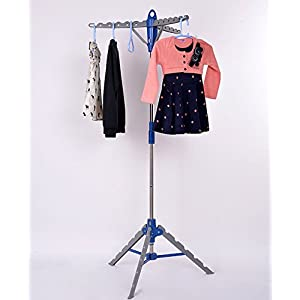 Gracelove Garment Clothes Hanger Stand Folding Portable Drying Laundry Indoor Patio Display Tree Rack
