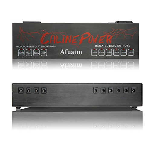Afuaim Guitar Pedal Power Supply Aluminium Alloy 10 Powerful True Isolated DC Output for 9V 12V 18V Effects Pedalboard by Afuaim (Image #2)