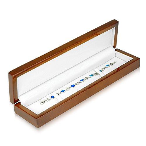 Geff House Walnut Wood Bracelet Jewelry Gift Box