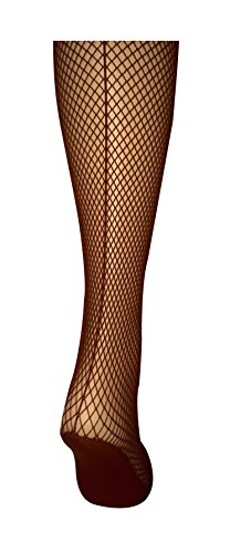 Capezio Professional 3400 Seamed Fishnet Tights. (XL, Toffee)