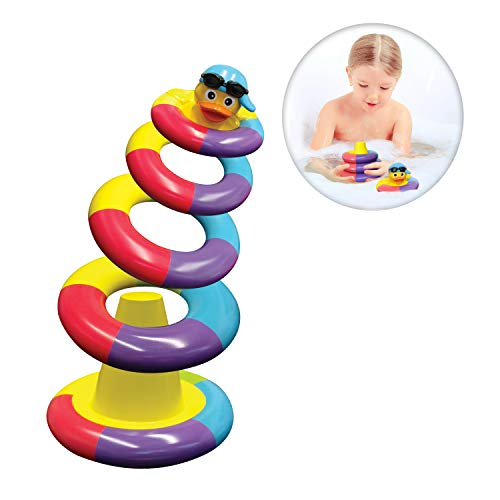 Playahoy Floating Bath Toys for Boys and Girls Float and Play Stacking Toy Rings for Baby Toddlers and Kids