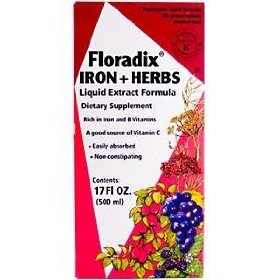 Floradix Formula Iron - Floradix Formula Iron (500mL=16.6oz) Brand: Flora