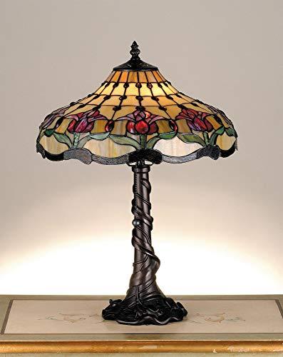 - Meyda Tiffany 82319 Colonial Tulip Table Lamp, 19.5