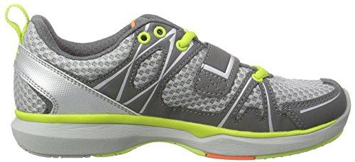 DiadoraHerz - Zapatos de Ciclismo de Carretera Unisex adulto Gris - Grau (steel gray/lime punch5267)