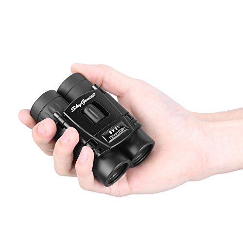 Skygenius 8x21 Small Compact Lightweight Binoculars for Concert Theater Opera .Mini Pocket Folding Binoculars w/Fully Coated Lens for Travel Hiking Bird Watching Adults ()