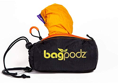 (BagPodz Reusable Bag and Storage System - Saffron Yellow (Contains 5 Bags))