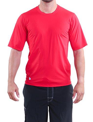 Original Watermen Men's Short Sleeve Surf Shirt Red XLarge