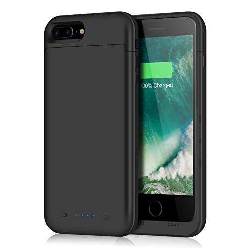 Plus Battery Pack - iPhone 8 Plus/7 Plus Battery Case,7000mAh Battery Pack Charger Case for 8 Plus Extended Portable Battery Charging Case for iPhone 7 Plus,8 Plus -Black