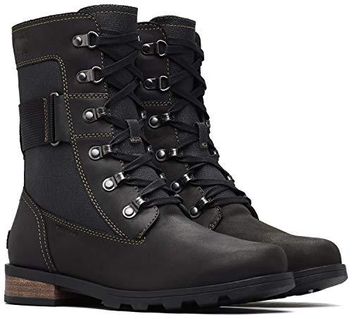 (Sorel Emelie Conquest Boot - Women's Black, 5.0)