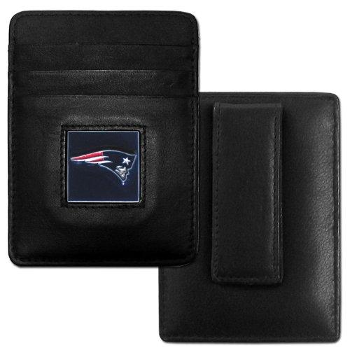Siskiyou New England Patriots Leather Money Clip/Cardholder (Clip Money England)