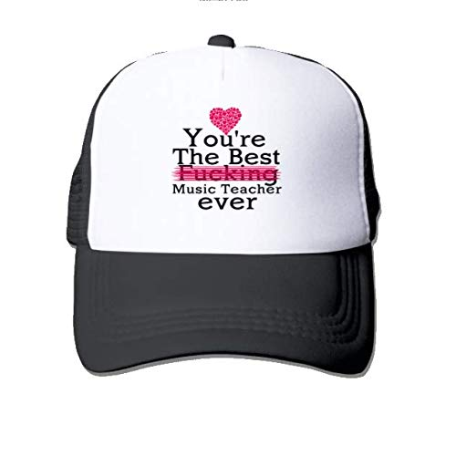 Unisex Breathable Quick Dry Mesh Baseball Cap Sun Hat Black-You're the best fucking Music Teacher ever (Best Fucking Music Ever)