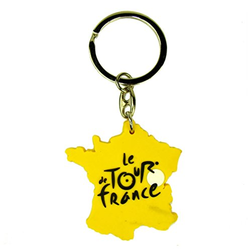 (Tour de France 'Map' Keychain - Yellow)