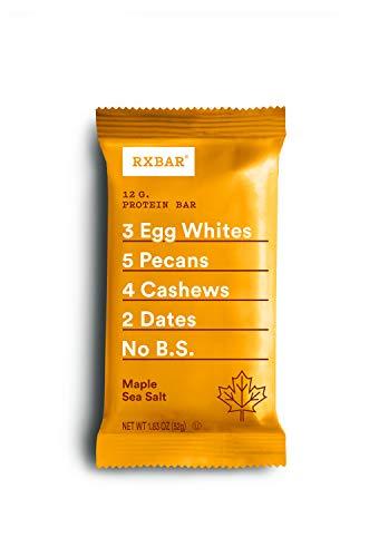 Cheap RXBAR Real Food Protein Bar, Maple Sea Salt, Gluten Free, 1.83oz Bars, 24 Count