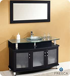 fresca contento 48 espresso modern bathroom. Black Bedroom Furniture Sets. Home Design Ideas