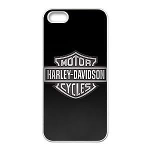 iPhone 4 4s phone case White Harley Davidson POIU8959673