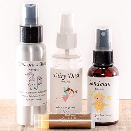 Kids Room Spray Gift Set Pure Essential Oils,Fairy Dust Room Spray, Sandman Spray, Keep Monsters Away, Lavender Bergamot Sandalwood, Gift for Kids, Bedtime Story