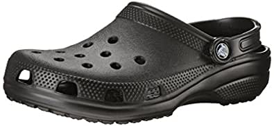 crocs Unisex Classic Clog,Black,9 US Men's / 11 US Women's