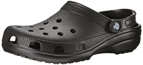 crocs Unisex Classic Clog, Black, 13 US Men / 15 US Women