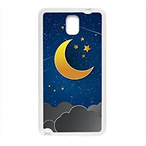 Moon Star Clouds White Phone Case for Samsung Galaxy Note3