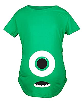 Maternity Monster Eye Ball Funny Pregnancy Announcement Tees Cute Baby T shirt