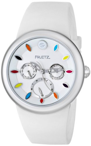 Fruitz by Philip Stein Unisex F43S-TF-W Analog Display Japanese Quartz White Watch (Watches Philip Stein Fruitz)