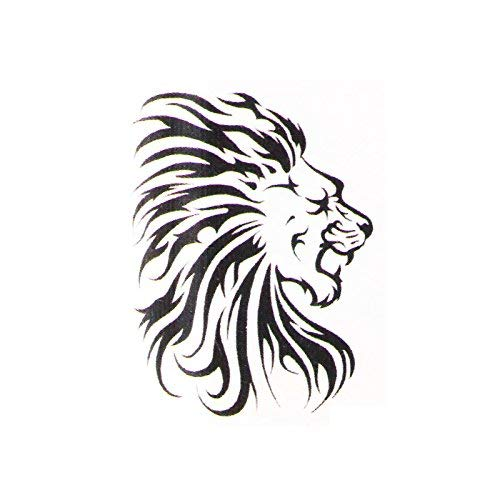 Tribal Lion temporary tattoo | Lion Fake removable tattoos & temp tatto designs | Tatoo decal party stickers ideas. Last 2-5 days & go on with water. Removeable party sticker decals