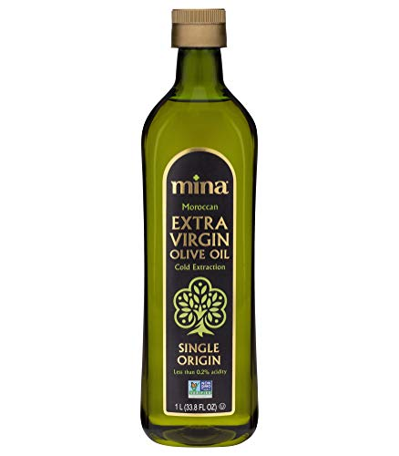 Mina Extra Virgin Olive Oil, Cold Extracted, Premium, Gourmet, Single Origin, 33.8 oz (1L), Family Harvested, Full Traceability, Unblended, Ultra Low Acidity (Less Than 0.2%)