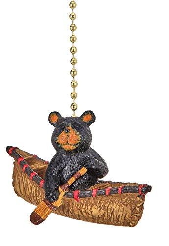 - Bear Rowing a Canoe Ceiling Fan Light Dimensional Pull