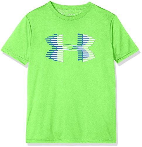 Under Armour Boys' Tech Big Logo Solid T-Shirt, Arena Green (701)/Moroccan Blue, Youth Medium