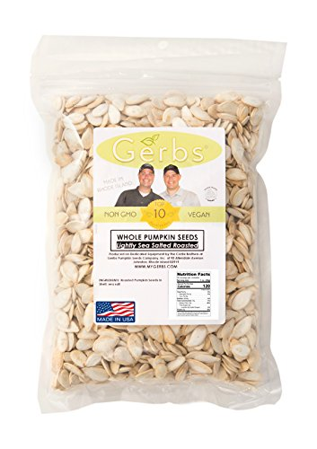 Lightly Sea Salted Pumpkin Seeds In Shell by Gerbs - 2 LBS - Top 11 Food Allergen Free & Non GMO - Vegan & Kosher – Premium Whole Roasted Pepitas – COG USA (Non Gmo Pumpkin Seeds)