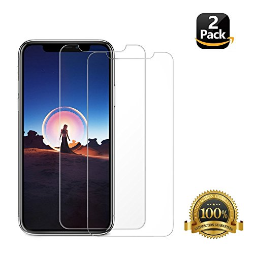 iPhone X Screen Protector Glass, ZRTKE 0.3mm Ballistic Tempered Glass Screen Film Work With most Case For Apple iPhone X / 10