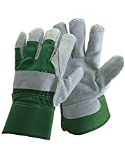 FZTEY Thick Gardening Work Gauntlets , Reinforced Leather Heavy duty Cut Knife Thermal Gloves For Men and Women Lady Gift , Safety Protective Wood, Pruning, Yard, Farm,Building, Construction,Household Rigger Washable Gripper