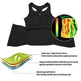 MASS21 Womens Shapewear Neoprene Sauna Sweat Corset Tank Top Vest Sport Workout Slimming Body Shaper M