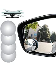 """4pcs Blind Spot Mirror, 2"""" Round HD Glass Convex Rear View Mirror, Pack of 4"""