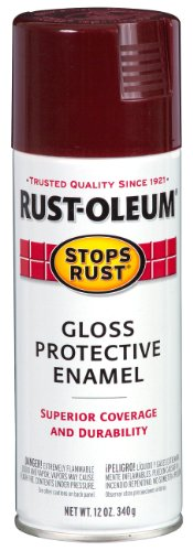Rust-Oleum 248567 Stops Rust Spray Paint, 12-Ounce, Gloss Merlot