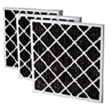 Filtration Manufacturing 02OS-24242 Charcoal Pleated Air Filter 24'' W x 24'' H x 2'' D - Lot of 12