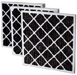 Filtration Manufacturing 02OS-14202 Charcoal Pleated Air Filter 14 W x 20 H x 2 D Lot of 12