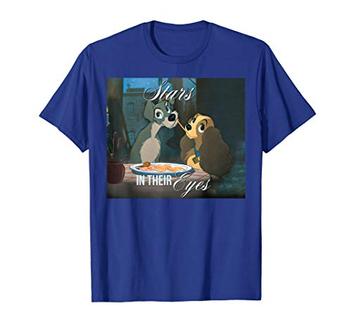 Disney Lady and the Tramp Spaghetti Kiss T-shirt