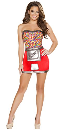 Musotica Women's Jelly Bean Machine Halloween Costume - Red/