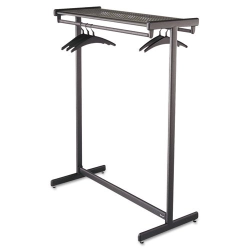 Quartet : Double-Sided Garment Rack, Steel, Black Powder Coat -:- Sold as 2 Packs of - 1 - / - Total of 2 Each by Quartet