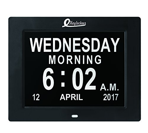 Digital Wall Clock- Alarm Clock- Desk Clock- Kitchen Clock-Extra Large Numbers Electronic Calendar- Mini Battery Inside- 5 Years Life